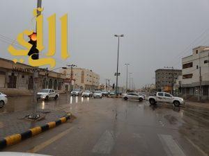 أمطار الخير و البركة تهطل على محافظة وادي الدواسر