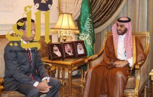 الامير عبدالعزيز بن تركي الفيصل يلتقي سفيرا الصين واليابان