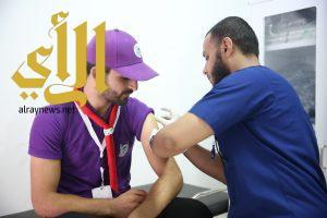 حملة تطعيم تشمل 4500 كشاف وجوال من المشاركين في خدمة ضيوف الرحمن