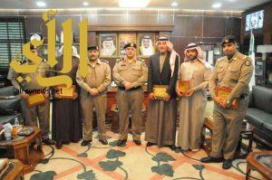 مدير شرطة منطقة الجوف يكرم عدداً من ضباط وضباط صف