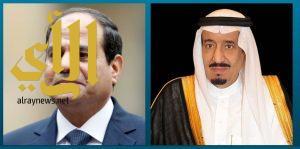 خادم الحرمين الشريفين يجري اتصالاً هاتفيًا بالرئيس المصري