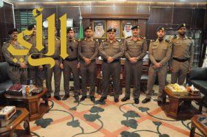 ترقية عدداً من ضباط شرطة منطقة الجوف الى الرتب التي تلي رتبهم