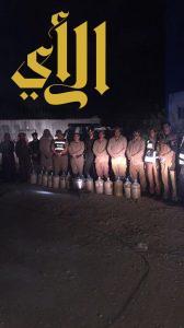 شرطة منطقة الجوف تنفذ حملة أمنية بعدة مواقع تجمع الوافدين بضاحية قارا
