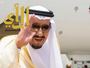 خادم الحرمين الشريفين يصل جدة قادماً من مكة المكرمة