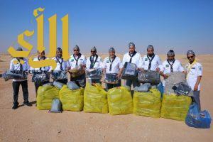 """مكتب رواد كشافة المجمعة يبدأ المبادرة الشتوية """" اسعاد 100 عامل """""""