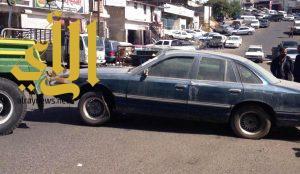 أمانة منطقة عسير : تزيل السيارات التالفة بصناعية أبها
