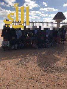 شرطة طبرجل تنفذ حملة امنية لعدة مواقع لتجمع الوافدين