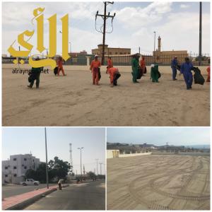 بلدية طريب تجهز مصليات الأعياد لأداء صلاة عيد الأضحى المبارك
