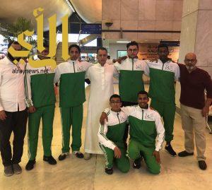 المنتخب السعودي للمبارزة في مواجهة إيطالية بكأس العالم