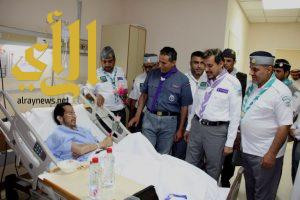 الكشافة يزورون المرضى في مستشفى حريملاء العام