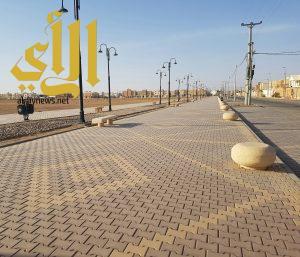 بلدية المجمعة تنهي رصف وتجهيز ممشى المحافظة