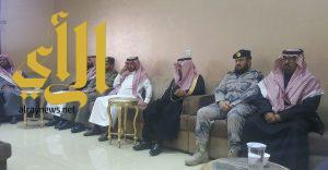 محافظ ظهران الجنوب ومدراء الدائر الحكومية يقدمون واجب العزاء في حسن بن دليم