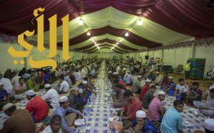 خمسون شاباً متطوعاً ينظمون مشروع افطار صائم بخيرية محافظة طريب