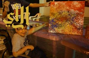 أطفال عسير المعوقين يشاركون ورشة رسم الأطفال بالمفتاحة