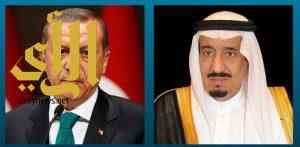 خادم الحرمين الشريفين يتلقى اتصالاً هاتفيًّا من الرئيس التركي