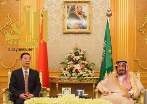 الملك سلمان يستقبل نائب رئيس مجلس الدولة بجمهورية الصين الشعبية