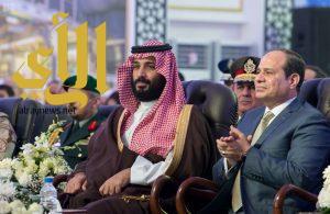الرئيس المصري و ولي العهد يطلعان على عدد من المشروعات الاقتصادية بمدينة الإسماعيلية