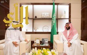 نائب خادم الحرمين الشريفين يستقبل الشيخ عبدالله بن علي آل ثاني