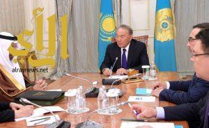 خادم الحرمين الشريفين يبعث رسالة إلى رئيس جمهورية كازاخستان