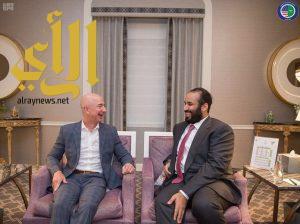 ولي العهد يلتقي المؤسس والرئيس التنفيذي لشركة أمازون