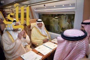 """""""الفيصل"""" يرفع التهنئة لخادم الحرمين الشريفين على ما تحقق من إنجاز في قطار الحرمين"""