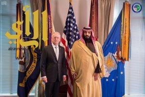 ولي العهد يلتقي وزير الدفاع الأمريكي
