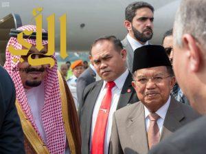 خادم الحرمين الشريفين يغادر جمهورية اندونيسيا بعد زيارة رسمية