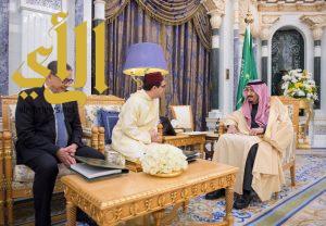 خادم الحرمين الشريفين يتسلم رسالة من جلالة ملك المملكة المغربية