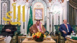 الملك سلمان يستقبل رئيسي باكستان واليمن ورئيس مجلس الأمة بالكويت