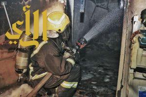 مدني العاصمة المقدسة يسيطر على حريق في منزل شعبي