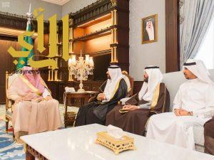 أمير الباحة يستقبل رئيس النادي الأدبي بالمنطقة