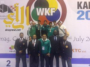 3 ميداليات سعودية في كأس الاتحاد الدولي للكاراتيه بكرواتيا