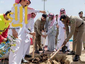 وكيل إمارة منطقة الباحة يُدشن مبادرة التشجير لتنمية الغطاء النباتي