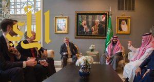 ولي العهد يجتمع مع أعضاء مجلس الشيوخ الأمريكي