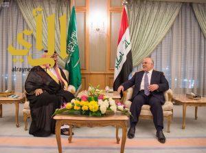 سمو ولي ولي العهد يلتقي رئيس الوزراء بجمهورية العراق