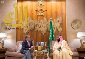 ولي العهد يجتمع مع وزير الطاقة الأمريكي