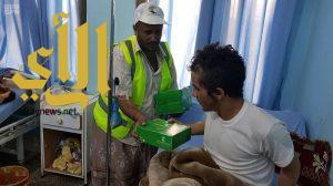 مركز الملك سلمان للإغاثة يوزع وجبات إفطار صائم للمرضى في مديرية الحزم بمحافظة الجوف