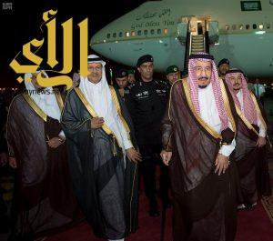 خادم الحرمين الشريفين يصل الرياض قادماً من المنطقة الشرقية