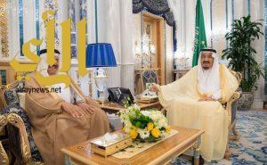 خادم الحرمين الشريفين يستقبل الأمين العام لمجلس التعاون لدول الخليج العربية