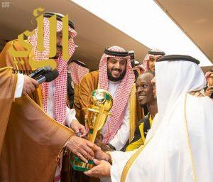 خادم الحرمين الشريفين يرعى المباراة الختامية لمسابقة كأس خادم الحرمين الشريفين لكرة القدم