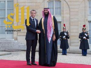 الرئيس الفرنسي يستقبل ولي العهد