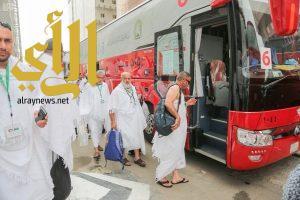 """تفويج حجاج فلسطين ضيوف خادم الحرمين إلى مشعر """"عرفات"""""""
