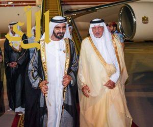 الشيخ محمد بن راشد آل مكتوم يصل إلى جدة