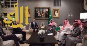 ولي العهد يجتمع مع كبير المستشارين مبعوث الولايات المتحدة للشرق الأوسط،