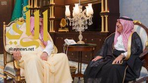 أمير الباحة يستقبل مدير الشؤون الزراعية بالمنطقة