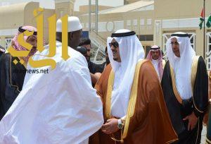 رئيس جمهورية جامبيا يصل إلى الرياض