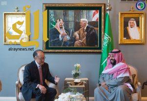 ولي العهد يجتمع مع رئيس البنك الدولي