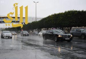 أمطار الخير والبركة تهطل على مدينة أبها