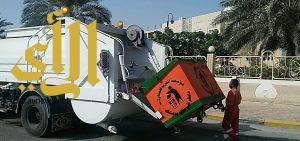 بلدية محافظة الخفجي تستكمل برنامج حملاتها لإزالة الانقاض ومخلفات البناء مجهولة المصدر