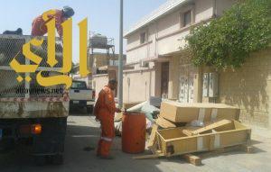 بلدية الخفجي تواصل اعمال النظافة قبل دخول شهر رمضان المبارك